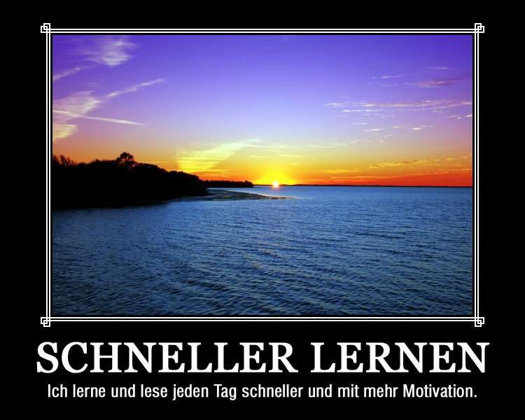 Motivationsposter: schneller Lernen