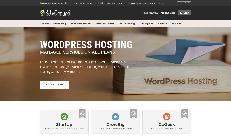 Siteground Hosting - Server für deine Webseite